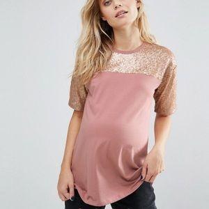 ASOS Maternity sequin yoke tshirt 💥NWT